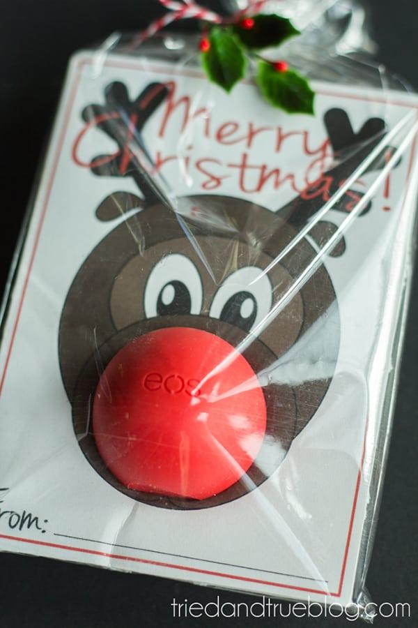 A cute Rudolph Lip Balm