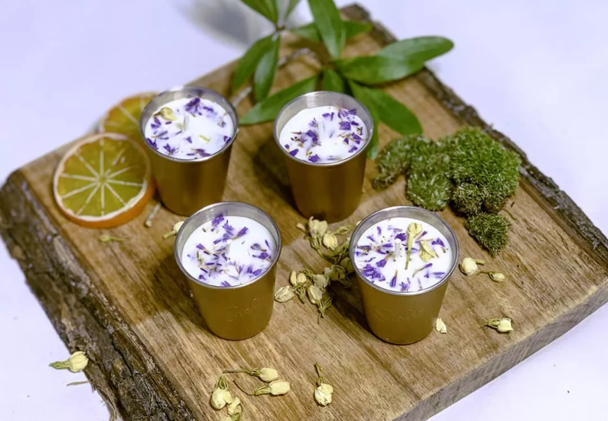 8 EASY STEPS MAKING SCENTED CANDLES WITH DRIED FLOWERS