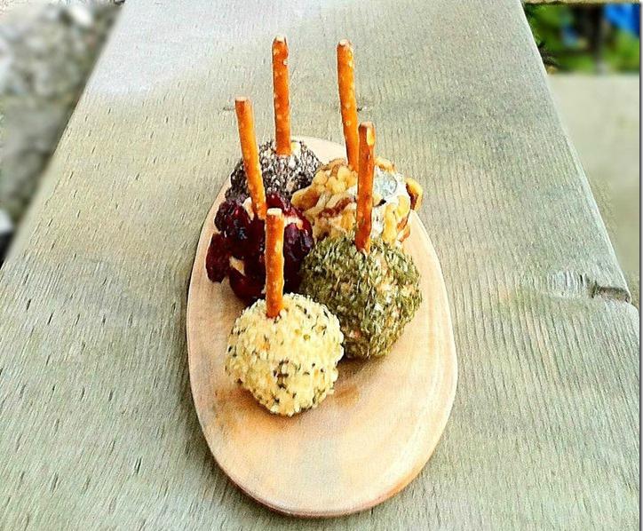 mini cheese balls on sticks