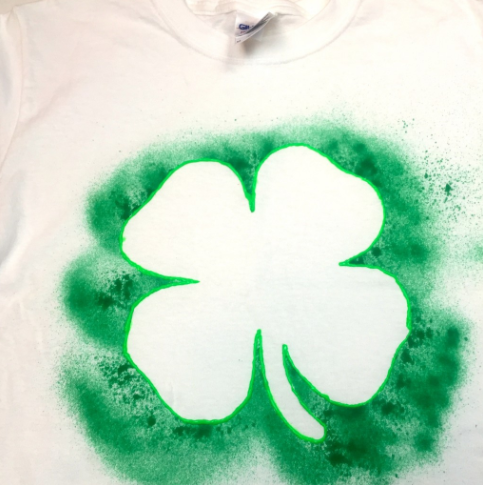 Shamrock puffy paint shirt