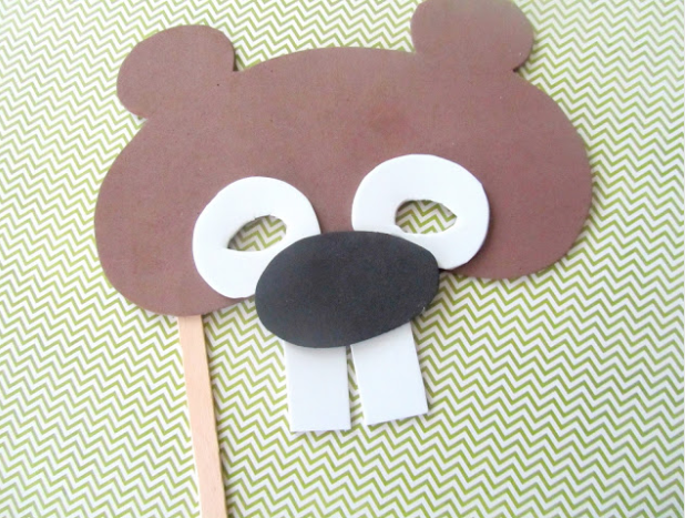 craft foam groundhog mask