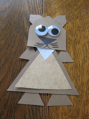 paper shapes turned into groundhog figure