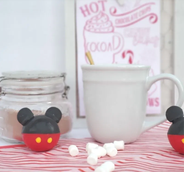 mickey mouse shaped hot cocoa bombs