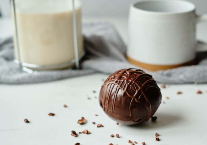 vegan hot cocoa bombs