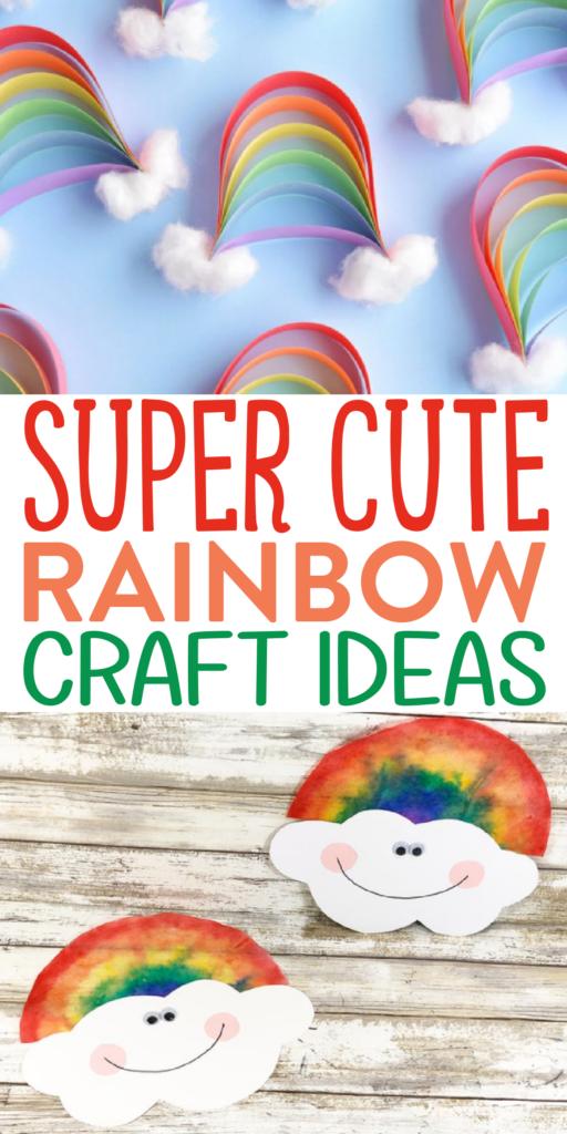 Super Cute Rainbow Craft Ideas Roundup