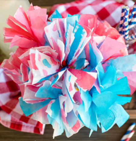 A colorful 4th of july coffee filter holiday kids craft