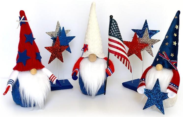 Homemade 4th of july gnomes creative holiday decor craft