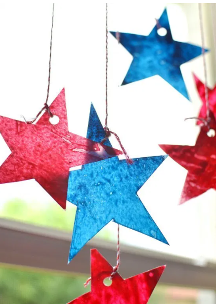 Summer star sun catchers for 4th of july holiday craft for kids