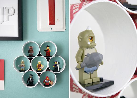 En samlarhylla / A collector's shelf wall decor