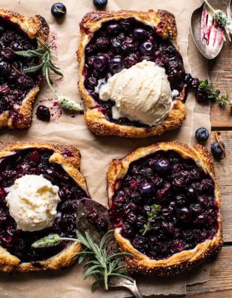 blueberry lemon thyme tarts
