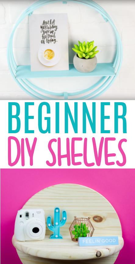 Beginner DIY Shelves Roundup