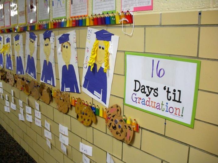 Countdown to Graduation Sign that says 16 Days 'til Graduation!