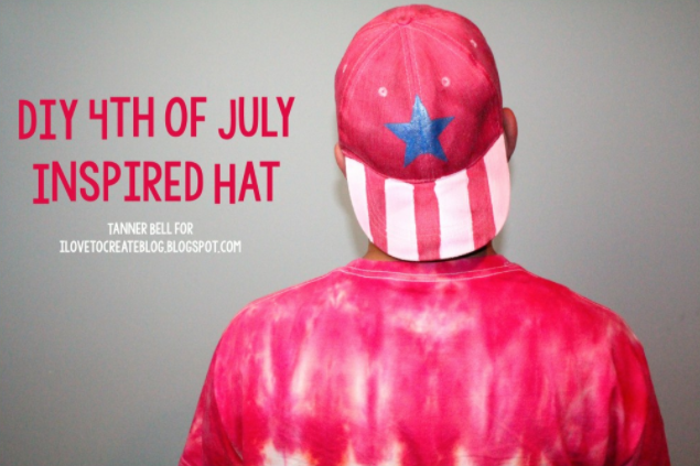 Homemade 4th of july inspired ha holiday craft project
