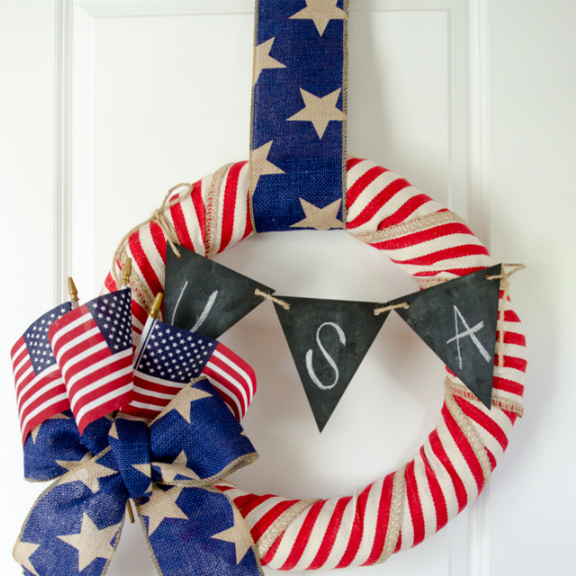 Homemade 4th of july wreath tutorial holiday craft project