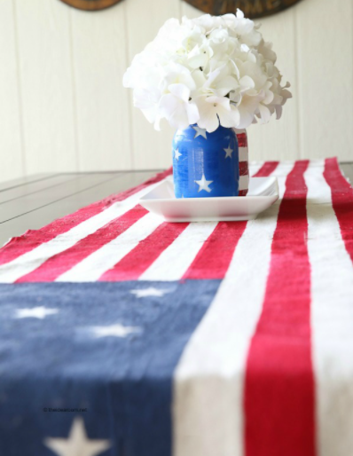 4th of july homemade flag table runner holiday decor