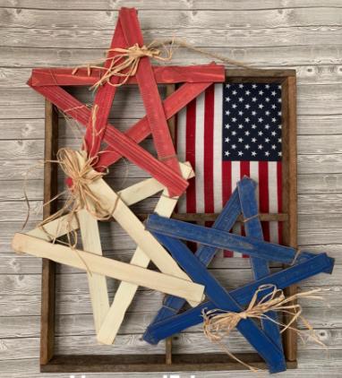 A budget friendly homemade Americana stars patriotic craft