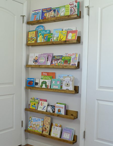 DIY Book Ledges – Easy and Inexpensive Organization For Kids Craft