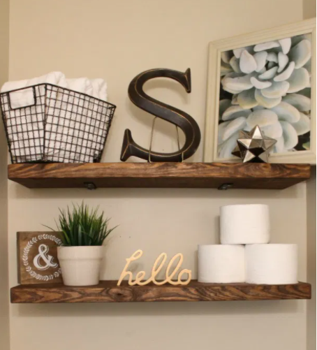 DIT Faux Floating Shelves Functional Home Decor