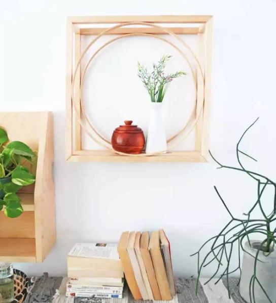 DIY Geometric display shelf complete home decor