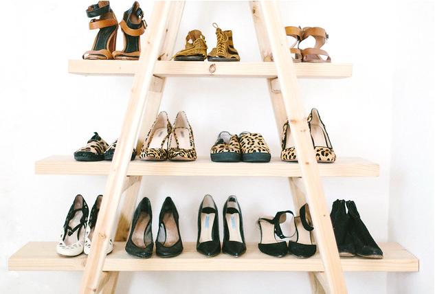 The Ladder Shoe Shelf DIY Decor