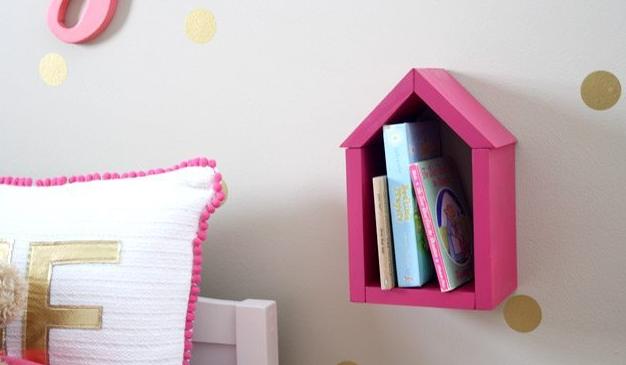 DIY Scrap Wood House Shelf Wall Home Decor