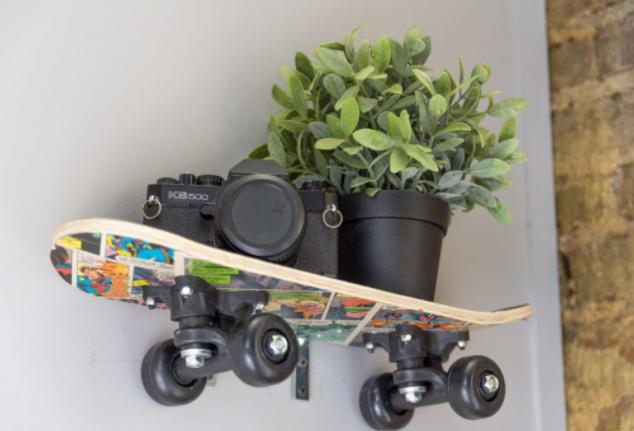 DIY SKATEBOARD SHELF PERFECT SUMMER PROJECT