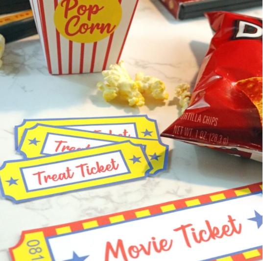 A fun family movie night printable outdoor theater