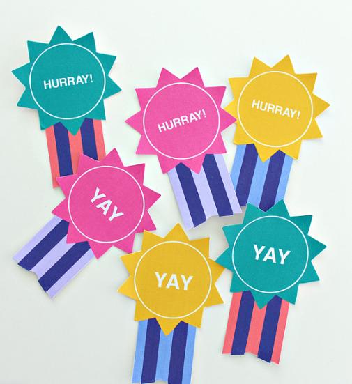 Colorful Kids graduation badges