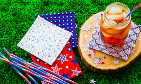A patriotic sewing craft homemade coasters for 4th of july craft