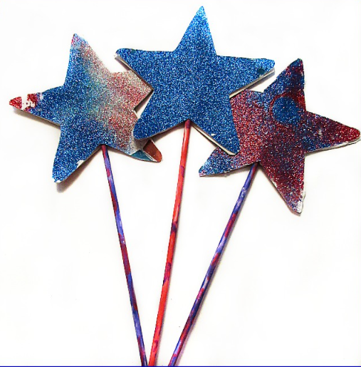 Sparkly glitter star wand crafts holiday projects for kids