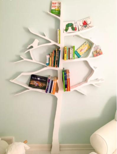 How to Build a Tree Shaped Bookshelf Wall Decor