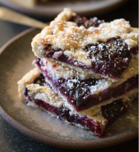 berry slab pie