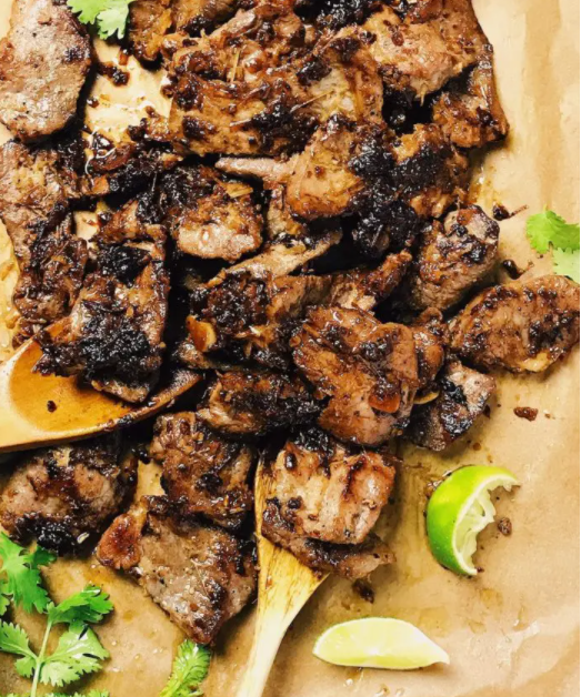 Vietnamese Lemongrass Pork,  BBQ grilled to juicy sweet & delicious.