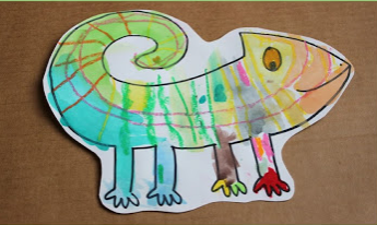 A Color of His Own: Chameleon Watercolor Project Fo Kids