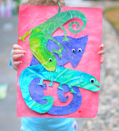 Eric Carle Inspired Mixed Up Chameleon Art Fun Craft Activity For Kids