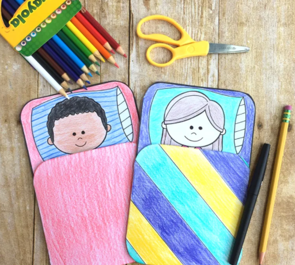 Camping sleeping bags that kids can write their camping experience