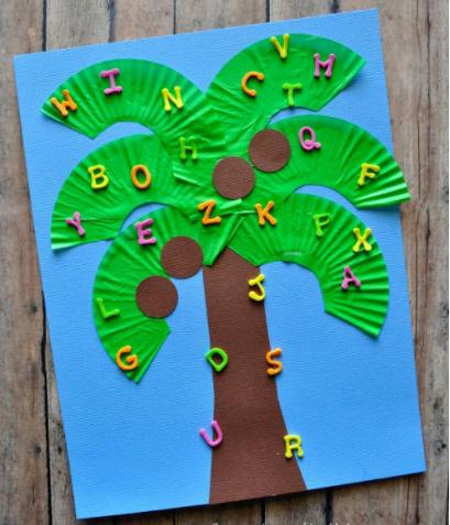 Chicka Chicka Boom Boom Craft -Fun alphabet activity for preschoolers!
