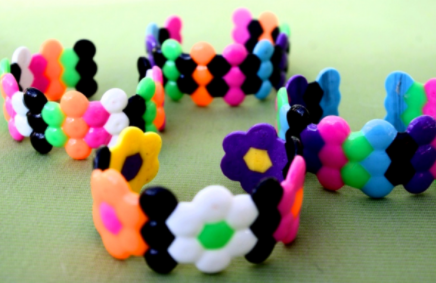 Quick and easy melted pony bead bracelet accessory craft for kids