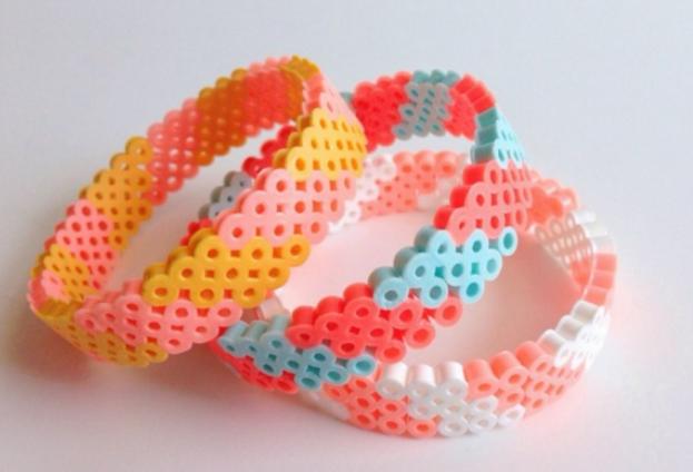 Lovely perler bead bracelets