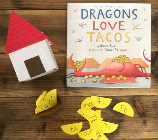 DRAGONS LOVE TACOS CRAFT – HOUSE AND TACOS Craft For Kids