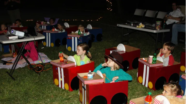 An outdoor fun and exciting drive-in movie nights for the kids, family and friends