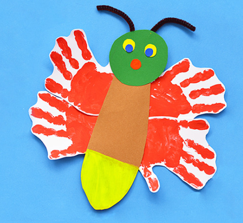 Eric Carle Inspired Glow In The Dark Handprint Firefly Perfect Craft For Kids