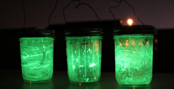 Glow in the dark jars that is perfect for a family camping