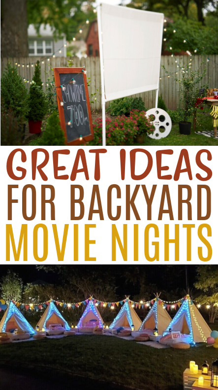 Great Ideas for Backyard Movie Nights Roundups