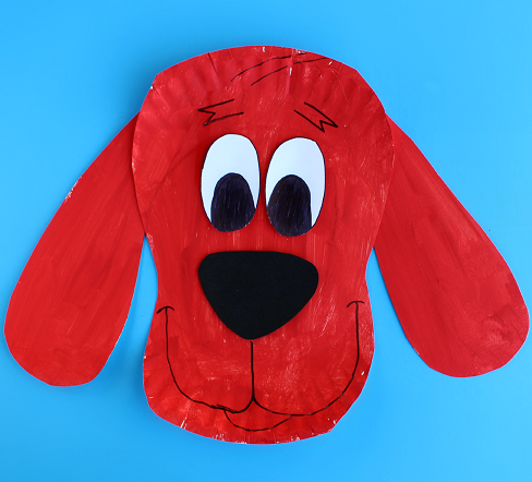 Paper Plate Clifford Craft for Kids (Big Red Dog) Easy Cutting And Painting