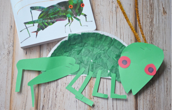 Eric Carle Paper Plate Cricket – Kid Craft And Tutorial