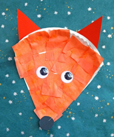 Dr Seuss Inspired – Paper Plate Fox Craft For Kids