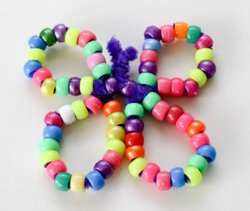 Pony bead butterfly animal craft fine motor activity for kids