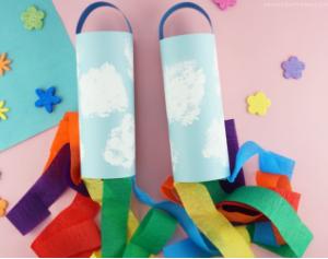 Colorful and fun to make rainbow windsocks