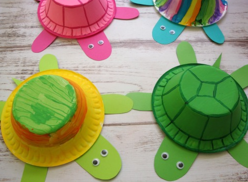 Super cute turtles made from styrofoam bowls